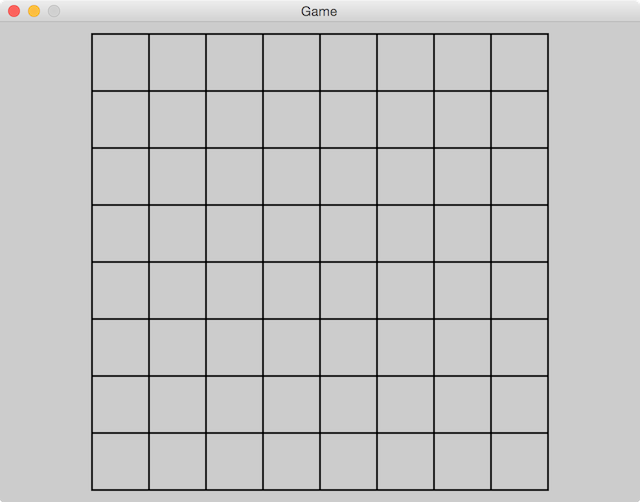 Reversi board with grid